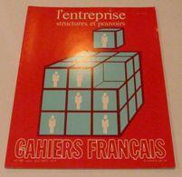 LES CAHIERS FRANÇAIS N°180 (03-04/1977) : L'Entreprise, Structures Et Pouvoirs - Politique