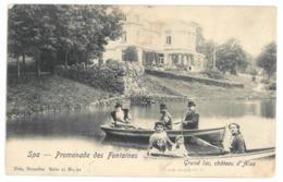 Spa, Promenade Des Fontaines. Grand Lac, Chateau D'Alsa. (9449) - Spa