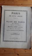 PLAN De PARIS  TURGOT - 20 PLANCHES PAR LOUIS BRETEZ -  A. TARIDE Editeur Vers 1851 - - Otros Planes