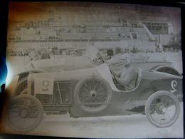 Négatif Souple Photographie Mme DERANCOURT Femme Pilote  à MONTLHERY En  1927 - Automobile