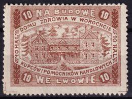 HEALTH Sanatorium In Worochcie Vorohta KuK Austria Occupation POLAND Merchant Trade Charity Label Vinderella Vignette - ....-1919 Provisional Government