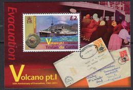 Tristan Da Cunha 2011 Volcano I MS, MNH, SG 1039 - Tristan Da Cunha