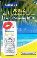 Carte Prépayée - Samsung / La Carte De La Séduction / Rare - Frankreich
