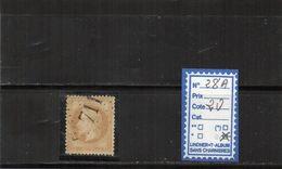 Napoleon Lauré  OBLITERE - N° 28A - 1863-1870 Napoleone III Con Gli Allori