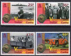 Tristan Da Cunha 2012 Volcano II Set Of 4, MNH, SG 1040/3 - Tristan Da Cunha