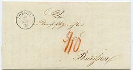 LÖBAU Klarer K 1 Portobrief 1850 Nach Budissin (Bautzen) - Saxe