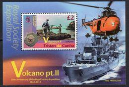 Tristan Da Cunha 2012 Volcano II MS, MNH, SG 1044 - Tristan Da Cunha