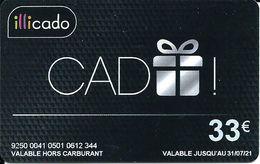 Carte Cadeau - Illicado 33 € -  Gift Card / Geschenkkart - Cartes Cadeaux