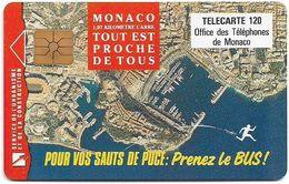 Monaco - MF49 - Prenez Le Bus - Cn. B2C0Q0004, Gem1A Symm. Black, NO Transp. Moreno, 01.1993, 120Units, 100.000ex, Used - Mónaco