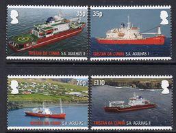 Tristan Da Cunha 2012 SS Agulhas II Maiden Voyage Set Of 4, MNH, SG 1054/7 - Tristan Da Cunha