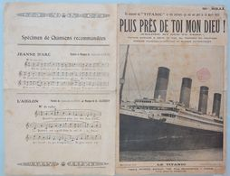 PARTITION MUSICALE PLUS PRES DE TOI MON DIEU PAQUEBOT TITANIC - Spartiti