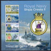 Tristan Da Cunha 2012 Ships Crests MS, MNH, SG 1058 - Tristan Da Cunha