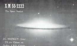 OVNI UFO SOUCOUPE VOLANTE Sur Ancienne QSL De Jean C. Mainguy, Des Chênes Est, Québec, Mai 1969 - CB