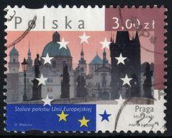 EUROPEAN UNION EU EC COMMUNITY Tower Bridge Cathedral Praha Prague Czech Republic Czechia - 2008 POLAND - Used - Tchéquie