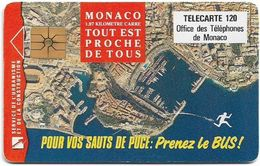 Monaco - MF49 - Prenez Le Bus - Cn. B2C0Q00012, Gem1A Symm. Black, NO Transp. Moreno, 01.1993, 120Units, 100.000ex, Used - Mónaco