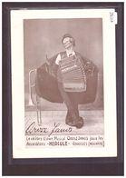 FORMAT 10x15cm - CORCELLES - LE CELEBRE CLOWN MUSICAL OROSZ JANOS - PUBLICITE ACCORDEONS HERCULE - B ( LEGER PLI D'ANGLE - NE Neuchâtel