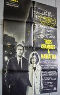 Ancienne Affiche De Cinéma Cocinor Trois Chambres à Manhattan Annie Girardot Maurice Ronet O.E. Hasse 80cm X 60cm - Posters