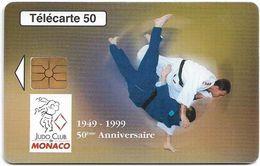 Monaco - MF49 - Judo Club De Monaco Anniv. - Cn. B87109002, Gem1A Symm. Black, 08.1998, 50Units, 52.000ex, Used - Mónaco