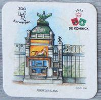 Sous-bock DE KONINCK Zoo Antwerpen Anvers Hoofdingang Sandy Nys Bierdeckel Bierviltje Coaster (N) - Portavasos