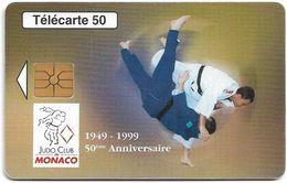 Monaco - MF49 - Judo Club De Monaco Anniv. - Cn. B87109005, Gem1A Symm. Black, 08.1998, 50Units, 52.000ex, Used - Monaco