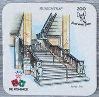 Sous-bock DE KONINCK Zoo Antwerpen Anvers Museumtrap Sandy Nys Bierdeckel Bierviltje Coaster (N) - Portavasos