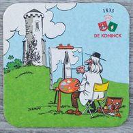 Sous-bock DE KONINCK (peintre, Toile, Peinture) Bierdeckel Bierviltje Coaster (N) - Portavasos