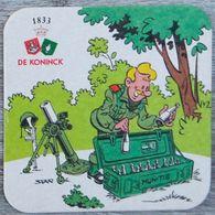 Sous-bock DE KONINCK (militaire, Soldat, Munitie, Munitions) Bierdeckel Bierviltje Coaster (N) - Portavasos