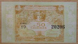 NÎMES (30)  50 Centimes  Chambre De Commerce  31-12-1922 ( 1917-1922) Série 19 - Chamber Of Commerce