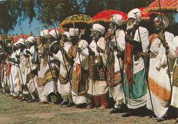 ETHIOPIA - Priests Celebrating Easter - Axum - Ethiopie