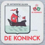 Sous-bock DE KONINCK De Antwerpse Gilden Schippers Bateau Bierdeckel Bierviltje Coaster (N) - Portavasos