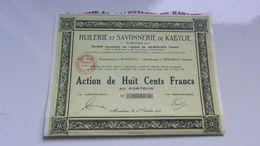 HUILERIE ET SAVONNERIE DE KABYLIE (mirabeau , Algérie) - Actions & Titres
