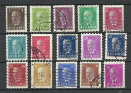 ESTLAND Estonia Estonie 1936-1940 Präsident Konstantin Päts, 15 Different O - Estland