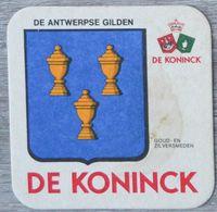 Sous-bock DE KONINCK De Antwerpse Gilden Goud En Zilversmeden Bierdeckel Bierviltje Coaster (N) - Portavasos