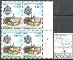D - [850422]TB//**/Mnh-Belgique 1977 - N° 1844, Collège Marie-Thérèse, HERVE, Bd4, N° Planche 2, Oiseaux, Animaux - Plate Numbers