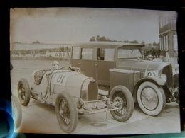 Négatif Souple Photographie Mlle COLETTE SALOMON Femme Pilote Au Départ à MONTLHERY En  1927 BUGATTI Actrice Et Danseuse - Automobile