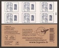 2015 Carnet Adhésif - BC 1176 C1 Datamatrix Europe Bleu 6 Timbres (avec Mention Du Poids)- NEUF - LUXE ** NON Plié - Booklets