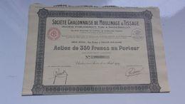 CHALONNAISE DE MOULINAGE & TISSAGE (aube & Saives-rigollet) Saone Et Loire - Actions & Titres
