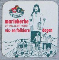 Sous-bock DE KONINCK Mariekerke 1988 Vis-en Folklore Dagen Bierdeckel Bierviltje Coaster (CX) - Portavasos