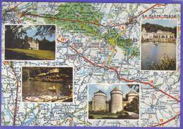 Carte Postale Géographique D'aprés Carte Michelin N°60. Bagnoles De L'Orne Et Ses Environs - Mapas