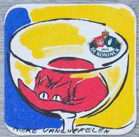 Sous-bock DE KONINCK Mieke Vanluffelen (chat) Bierdeckel Bierviltje Coaster (CX) - Portavasos