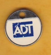 Jeton De Caddie En Métal - ADT - Alarmes Et Sécurité - Jetons De Caddies