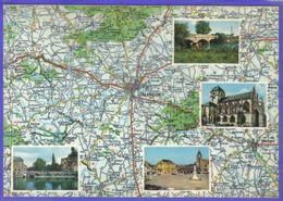 Carte Postale Géographique D'aprés Carte Michelin N°60.  L'Orne Et Alpes Mancelles  Alençon - Mapas