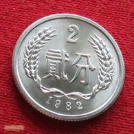 China 2 Fen 1982 Y# 2 UNC *V2 Chine - Chine
