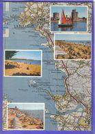 Carte Postale Géographique D'après Carte Michelin N°71  Charente Maritime  La Rochelle Et Ses Environs - Mapas