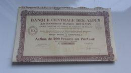 BANQUE CENTRALE DES ALPES (banque Dournon) GRENOBLE-ISERE - Actions & Titres