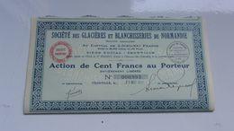 Glacières Et Blanchisseries De Normandie (trouville,calvados) - Actions & Titres