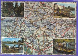 Carte Postale Géographique D'après Carte Michelin N°71  Le Venise Verte  Niort Et Ses Environs - Mapas