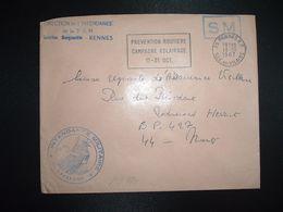 LETTRE OBL.MEC.18-10 1967 35 RENNES RP ILLE ET VILAINE DIRECTION DE L'INTENDANCE De La 3e R.M.+INTENDANCE N. LAVERGNE - Postmark Collection (Covers)