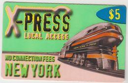 USA - X-Press New York (Train), Prepaid 5$, Used - Etats-Unis