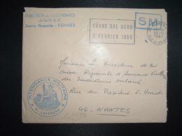 LETTRE OBL.MEC.24-1 1968 35 RENNES RP ILLE ET VILAINE DIRECTION DE L'INTENDANCE De La 3e R.M.+INTENDANCE N. LAVERGNE - Postmark Collection (Covers)